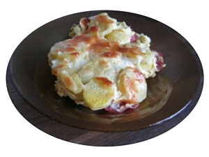 cartofi gratinati la cuptor cu oua smantana cascaval