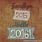 succes in anul nou Goodbye 2015, hello 2016!
