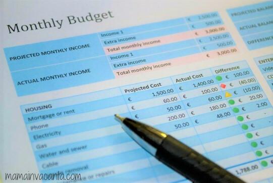 bugetul familiei tabel model excel