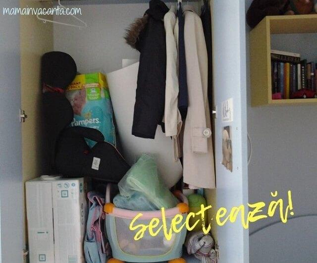 dulap de haine, dezordine, ordine, selectare, minimalism