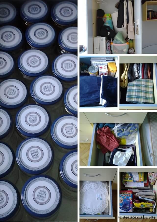dulapul de haine înainte, legea entropiei în gospodărie, before, after