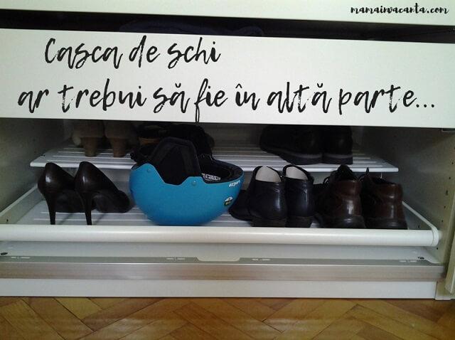 flylady, bara de haine, polita glisanta pantofi
