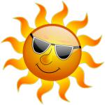 vitamina D, vitamina soarelui, soare insorit si zambitor cu ochelari de soare