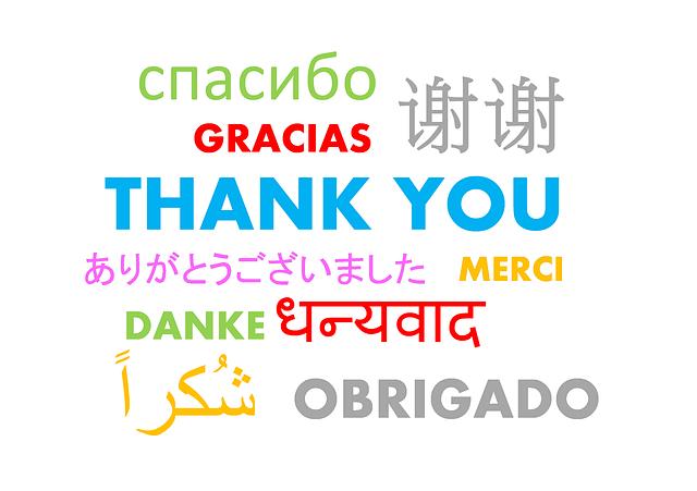jurnal de multumire, thank you in alte limbi