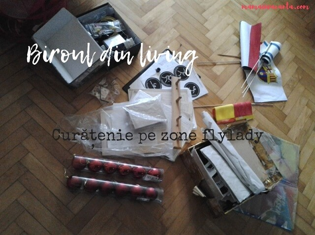 biroul din living, curatenie, flylady